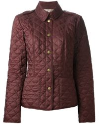Burberry Quilted Jacket - Lyst