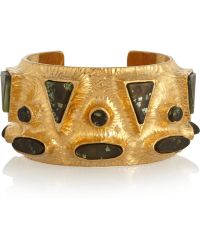 Vionnet - Gold-Plated Resin Cuff - Lyst