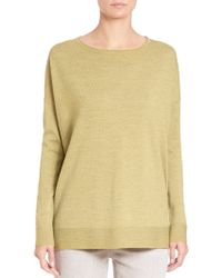Eileen Fisher | Merino Wool Jersey Box Top | Lyst