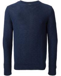 A.P.C. Crew Neck Sweater - Lyst