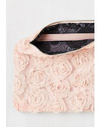 Nila Anthony - Chic To Chic Clutch In Blush - Lyst f2d4f6d497