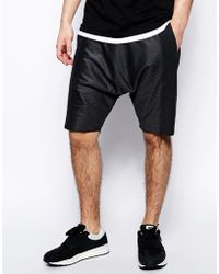 Asos Jersey Shorts in Drop Crotch Fit with Quilting - Lyst