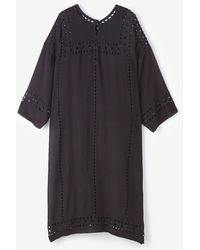Etoile Isabel Marant Else Embroidered Tunic Dress - Lyst