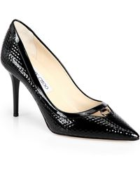 Jimmy Choo Hype Cubed Patent Leather Point Toe Pumps - Lyst