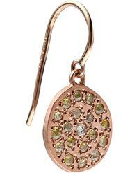 Brooke Gregson - Mini Rose Gold Mars Earrings - Lyst