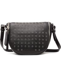 Burberry Leather Shoulder Bag With Eyelets - Lyst