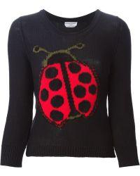 Sonia Rykiel Ladybird Sweater - Lyst