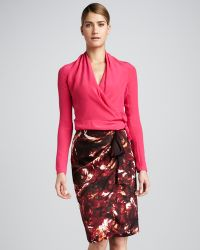 Rachel Roy - Womens Winter Rose Sarong Skirt - Lyst