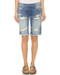 Long Jean Shorts Womens
