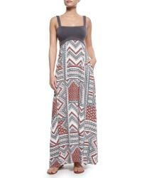 L Space Swimwear By Monica Wise Natasha Solid/Printed Maxi Dress - Lyst