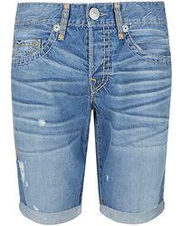 True Religion Geno Slim Fit Denim Shorts - Lyst