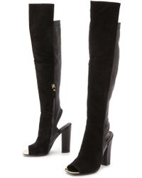 Rachel Zoe Open Toe Knee High Boots - Lyst