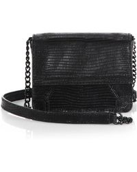 Alice + Olivia Mini Lizardembossed Clee Shoulder Bag - Lyst