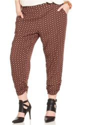 American Rag Plus Size Printed Cropped Pants - Lyst