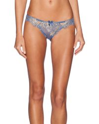 L'agent By Agent Provocateur Blue Iana Thong - Lyst