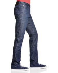 Blank - Standard Straight Fit Jeans In Indigo - Lyst