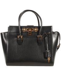 Versace Sognature Lock Shopping Pelle - Lyst