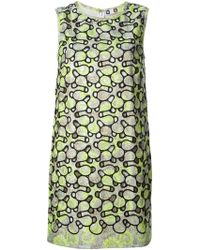 MSGM Green Shift Dress - Lyst