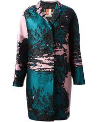 MSGM Jacquard Textured Coat - Lyst