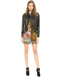 Versace Leather Jacket  Black - Lyst