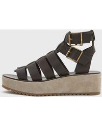 A.P.C. Cesar Platform Gladiator Sandals - Lyst