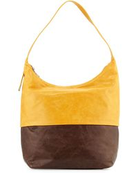 Hobo Joyce Vintage Leather Bag yellow - Lyst