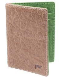 Will Leather Goods - 'flip Front Pocket' Card Case - Metallic - Lyst