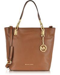 Michael Kors - Brooke Luggage Leather Medium Tote - Lyst