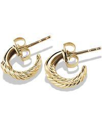 David Yurman Labyrinth Earrings In Gold - Lyst