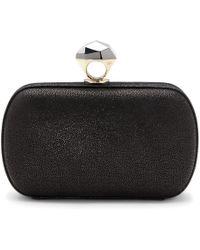 Diane von Furstenberg Powerstone Sparkle Caviar Minaudiere black - Lyst