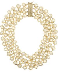 Rosantica Golddipped Freshwater Pearl Necklace - Lyst