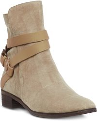 See By Chloé Coventry Suede Ankle Boots Beige - Lyst