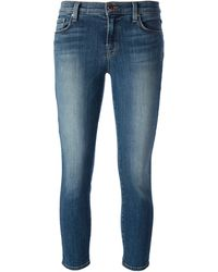 J Brand Cropped Jeans - Lyst