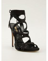 Casadei Beaded Sandals - Lyst