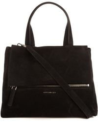 Givenchy Pandora Pure Flap Medium Suede Bag - Lyst