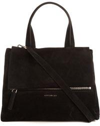 Givenchy Pandora Pure Flap Medium Suede Bag - Lyst