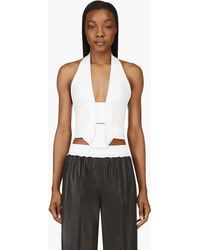 Dion Lee White Neoprene Cropped Renewal Tank Top - Lyst