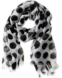 Banana Republic Dolores Scarf Whiteblack - Lyst