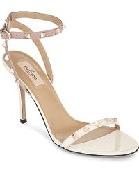 Valentino Rockstud 100 Heeled Sandals - For Women - Lyst