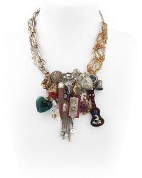 Maria Zureta | Multi Pendant & Chain Necklace | Lyst