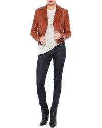 J Brand Aiah Leather Moto Jacket - Lyst
