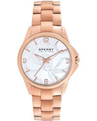 Sperry Top-Sider Women'S Kinney Rose Gold Ion-Plated Stainless Steel Bracelet 38Mm 102054 - Lyst