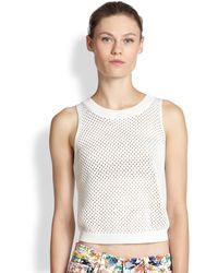 Rebecca Minkoff Kaia Mercerized Cotton Sweater - Lyst