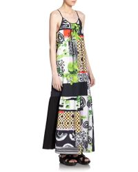 Clover Canyon Painted Collage Maxi Dress multicolor - Lyst