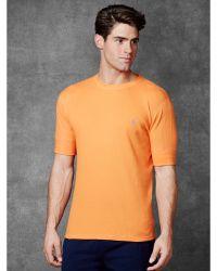 Polo Ralph Lauren Waffle-Knit Crewneck Shirt - Lyst