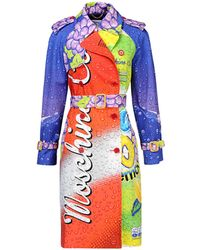 Moschino 'Drink ' Coat red - Lyst