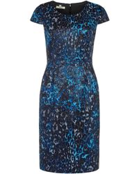 Precis Petite Animal Shimmer Dress - Lyst