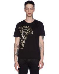 Versace Gold-Foil Medusa T-Shirt - Lyst