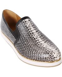 Report Signature Corbett Leather Sneakers silver - Lyst