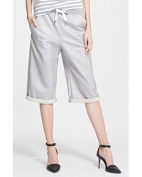 T By Alexander Wang Long French Terry Shorts - Lyst
